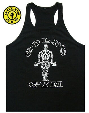 New 2017 Bodybuilding Vest Men GOLD'S sports Tank Top Professional GYM Fitness mens Tank Top Size M-XXL - unitedstatesgoods