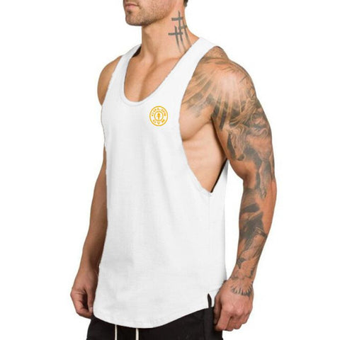 Brand Fitness Clothing Gyms singlets Men Tank Tops Mens Bodybuilding Stringers Tanktop workout golds Sporting Sleeveless T Shirt - unitedstatesgoods