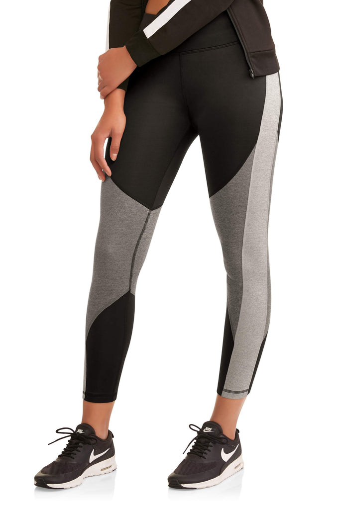 Women's Active Heathered Colorblock Performance Leggings - unitedstatesgoods