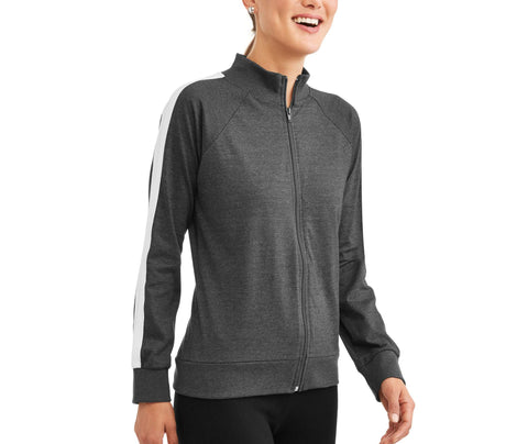 Women's Athleisure Essential Athletic Stripe Mockneck Jacket - unitedstatesgoods