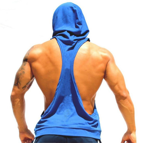 I SHAPED Vest for Men Underwear Summer Athletic Tank Tops Clothing Hooded Loose Tees Sleeveless - unitedstatesgoods