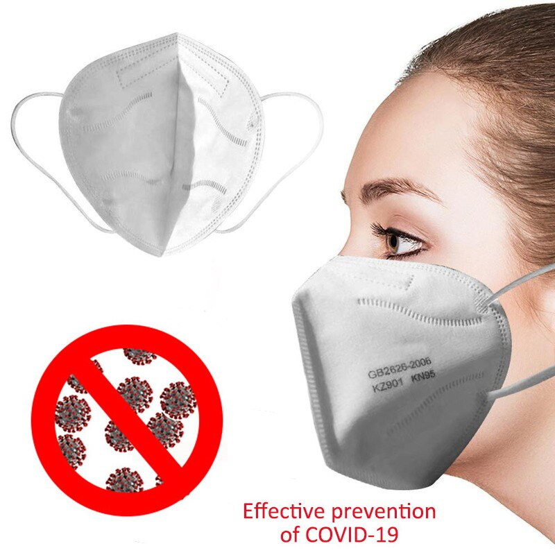 High Quality KN95 N95 Prevent Anti Corona Virus COVID-19 Dust Formaldehyde Bad Smell Bacteria Proof Face Mouth Mask Healthy Tool - unitedstatesgoods