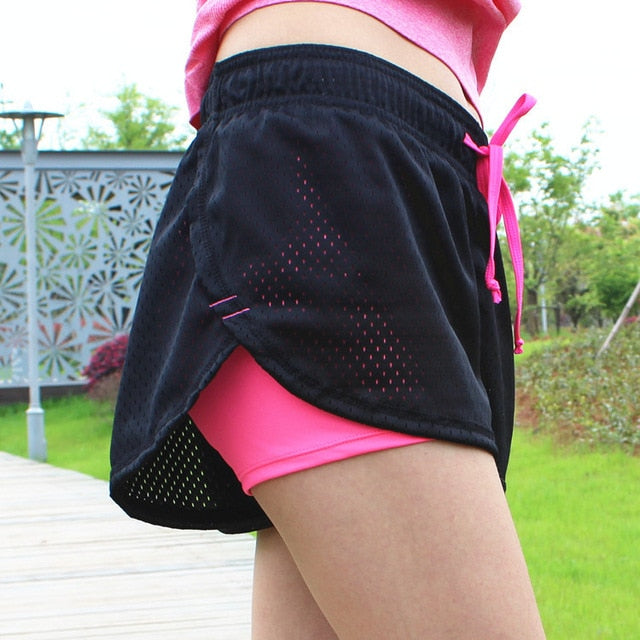 Womens Running Shorts Running Tights Short Women's Gym Cool Woman Sports Short Fitness Ladies Running Shorts Sportswear - unitedstatesgoods