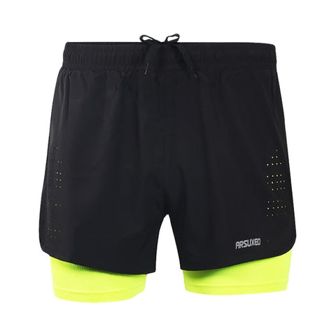 Quick Dry Running Shorts Anti-sweat Stretch Trainning Fitness Yoga Sports Short Pants Slim Gym Sweat Shorts Size M To XXXL - unitedstatesgoods