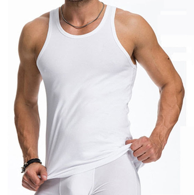 Cotton Big Size Summer men clothing Tank Tops - unitedstatesgoods