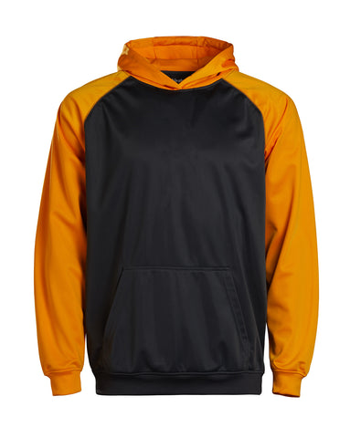 Youth Color Black Performance Hoodie - Gold/charcoal / Small