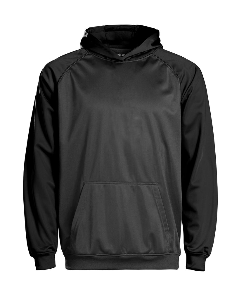 Youth Color Black Performance Hoodie - Black/charcoal / Small