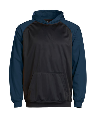 Youth Color Black Performance Hoodie - Navy/charcoal / Small