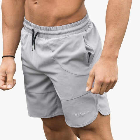 Summer Mens Run Jogging Shorts Gym Fitness Bodybuilding Workout Sports Sportswear Male Short Pants Knee Length Beach Sweatpants - unitedstatesgoods