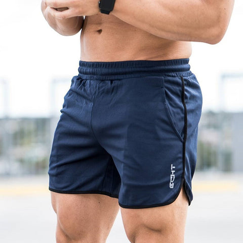 Men Summer Slim Shorts Gym Fitness Bodybuilding Running Jogging Training Male Short Pant Knee Length Breathable Mesh Sportswear - unitedstatesgoods