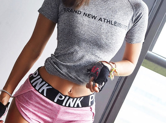 High Quality Women's T-shirt Quick dry Gym T-Shirt - unitedstatesgoods