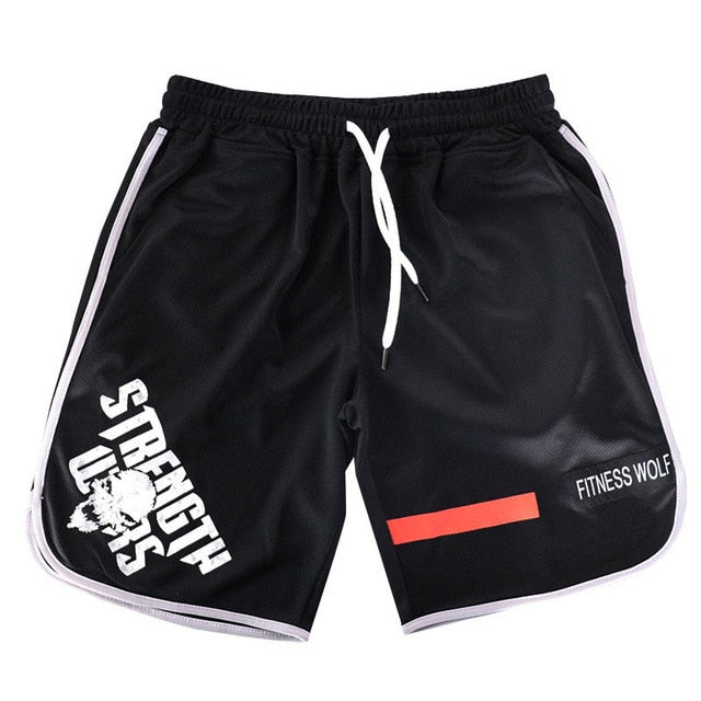 2018 running shorts men quick dry Skull print gym jogging shorts for men short brand Bodybuilding sports running men short pants - unitedstatesgoods