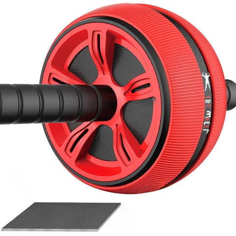 Abdominal Exercise Wheel Abdominal Rollers Exerciser Fitness Workout Gym Great For Arms, Back, Belly Core Trainer - unitedstatesgoods