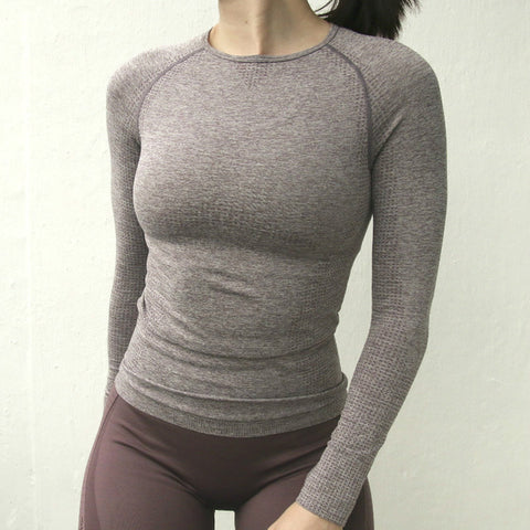 Comfort Sport Seamless Long Sleeve Top - unitedstatesgoods