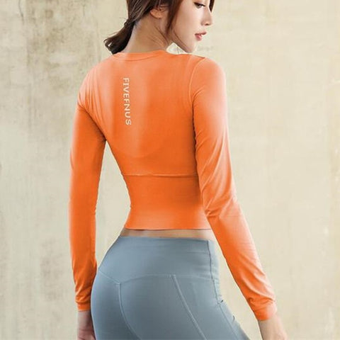Mermaid Curve Yoga Top Long Sleeve - unitedstatesgoods
