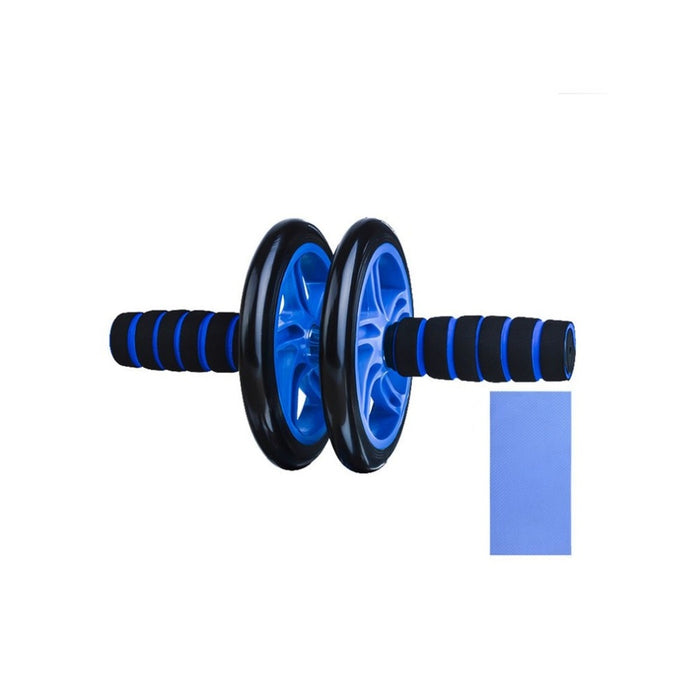 Abdominal Fitness Wheel Workout Gym Roller for Arms Back Belly Core Trainer Roller Double Wheels Fitness Equipment - unitedstatesgoods