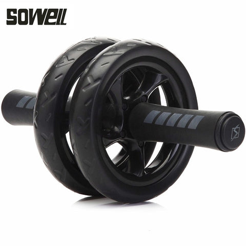 2019Muscle Exercise Equipment Home Fitness Equipment Double Wheel Abdominal Power Wheel Ab Roller Gym Roller Trainer Training - unitedstatesgoods