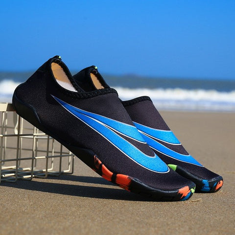 shoes Men Women Barefoot Skin Sock Striped Shoes Beach Pool Gym Aqua shoes Water Beach Swim Surfing Slippers Unisex sneakers - unitedstatesgoods
