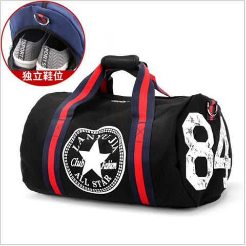 Canvas Sport Bag Training Gym Bag Men Woman Fitness Bags Durable Multifunction Handbag Outdoor Sporting Tote For Male - unitedstatesgoods