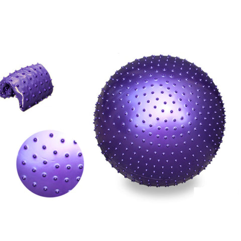 65CM Sport Yoga Balls Point Fitness Gym Balance Fitball Exercise Pilate Workout Barbed Massage Ball Thick Anti-Explosion - unitedstatesgoods