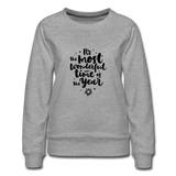 Women's Premium Christmas Sweatshirt - heather gray