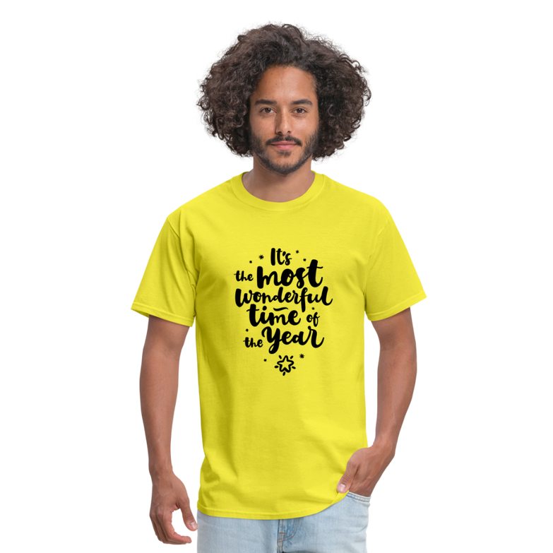 Wonderful time of the Year Men's T-Shirt - yellow