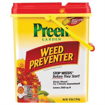 Preen® Garden Weed Preventer 16lb Drum - Covers up to 2560sq ft