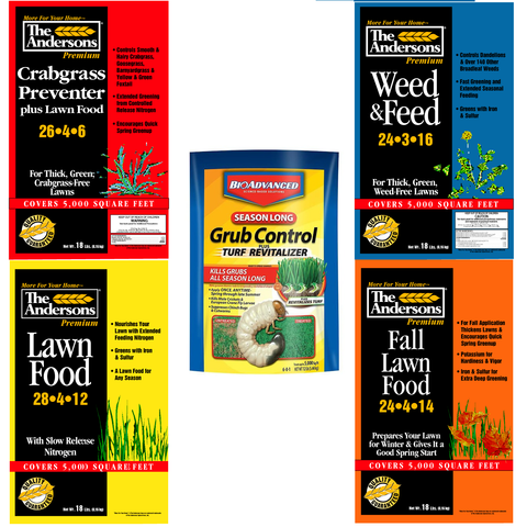 The Andersons 4 Step + Grub Control Lawn Program