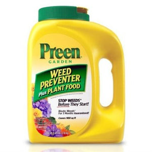 Preen® Garden Weed Preventer Plus Plant Food 5.625lb Shaker Bottle - Covers up to 900sq ft
