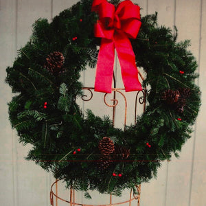 "24"" Concolor Fir Wreath Decorated"