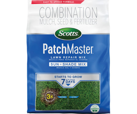 Scotts PatchMaster Lawn Repair Sun & Shade Mix (2-0-0.8) 10lb