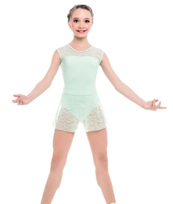 So Danca Floral Lace Microfiber Leotard