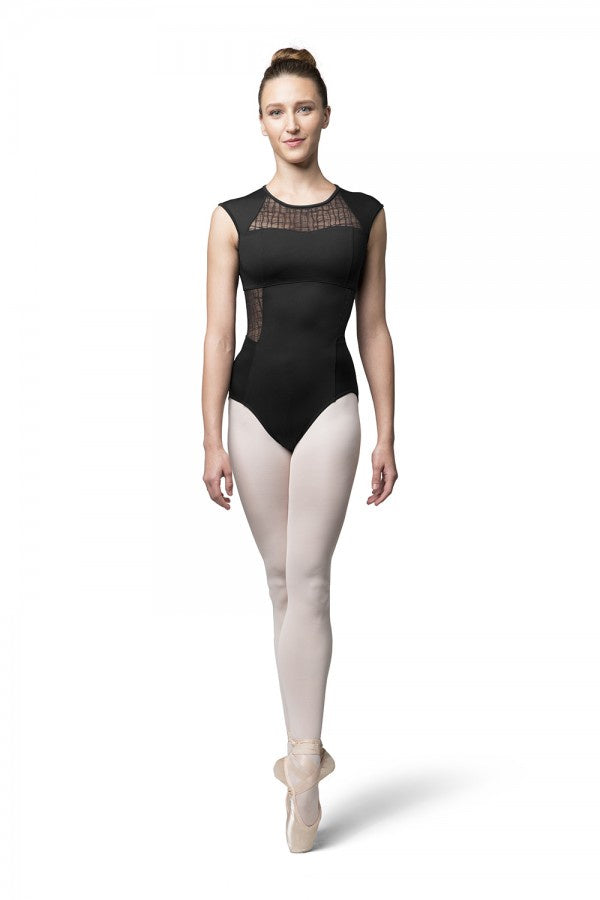 Bloch Mesh Zip Cap Sleeve Leotard L9812