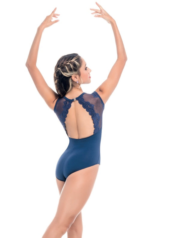 So Danca Lace Microfiber Tank Leotard
