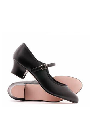 Black leather Katz buckle cuban heel character tap dance shoes all sizes