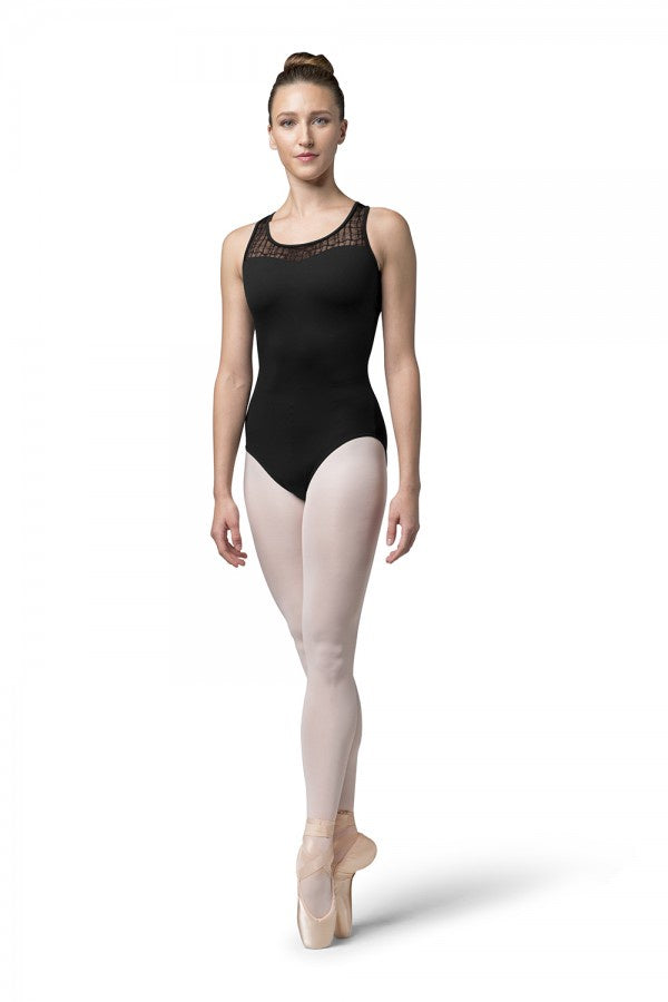 Bloch Ladies Mesh Cross Back Leotard L4805