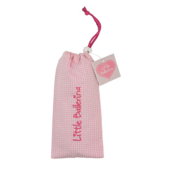 Little Ballerina Small Gingham Shoe Bag