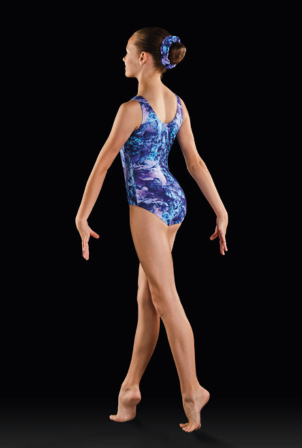 Bloch Printed Tank Gym Leotard GB174C
