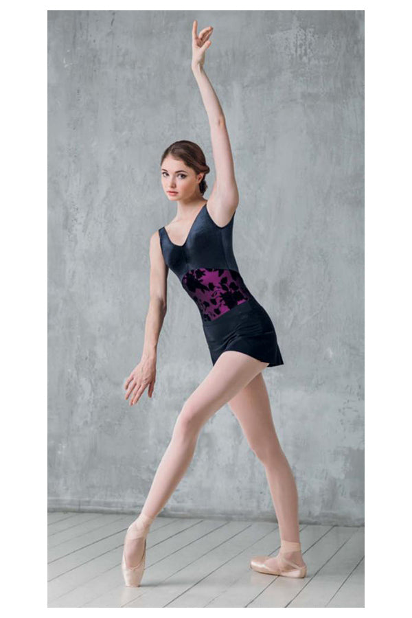 Grishko Floral Flock Layer Leotard DA-1804/1VM