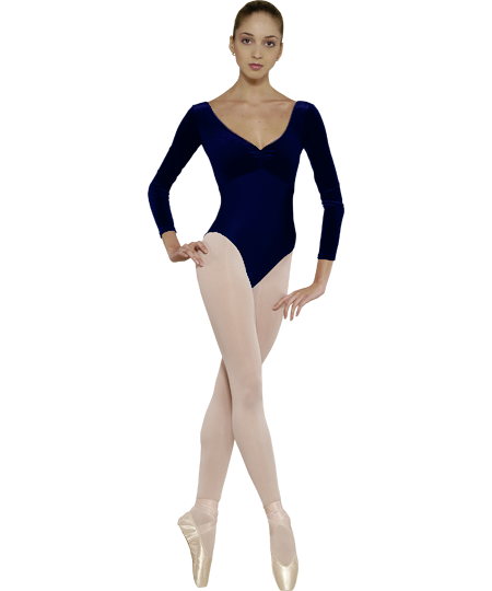 Grishko Velour Top Long Sleeve Leotard DA-44VL