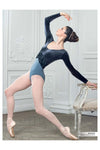 Grishko Long Sleeve Velour Top Leotard DA-89VM