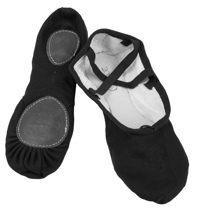 Chacott Canvas Split Sole Ballet Shoe Black
