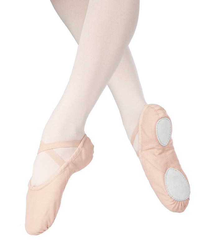 Chacott Canvas Split Sole Ballet Shoe Pink