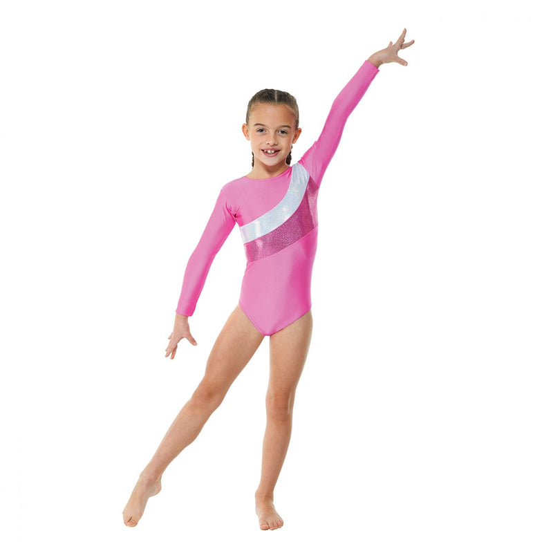 Tappers & Pointers Long Sleeve Lycra Cosmic Leotard GYM/19