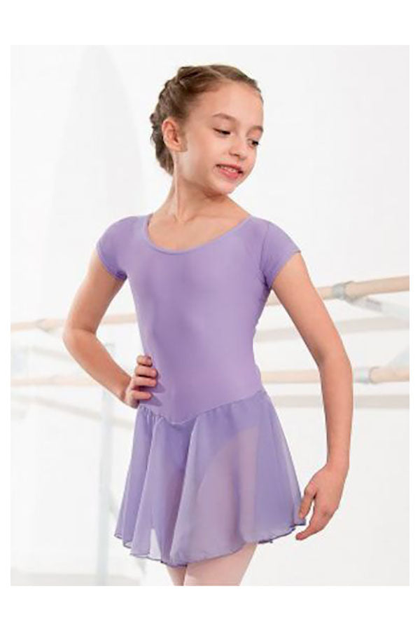 IDS MILLY Voile Skirted Cap Sleeve Leotard
