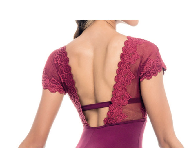 So Danca Lace Cap Sleeve Leotard