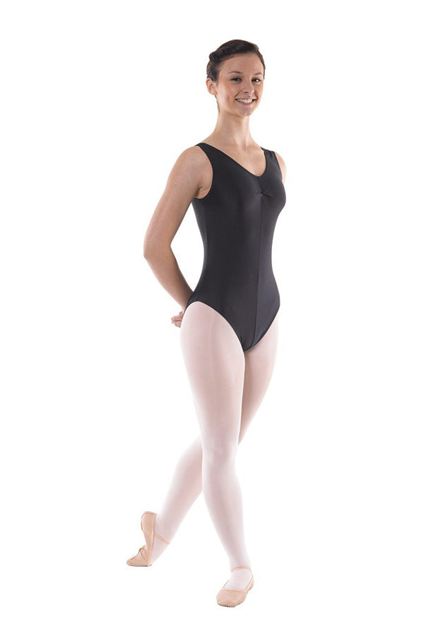 Tappers & Pointers Sleeveless Ruched Front Leotard Adults