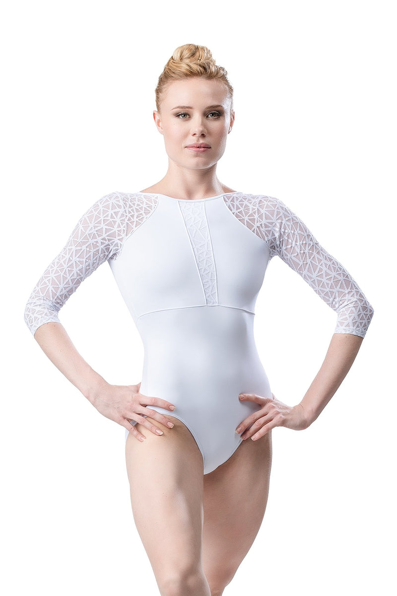 So Danca 3/4 Sleeve Mesh Leotard RDE-1913