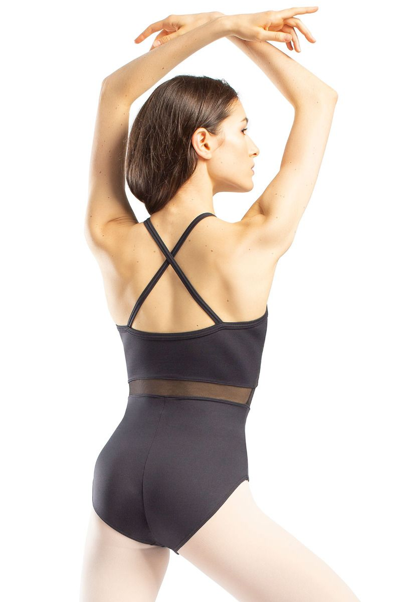 So Danca Mesh Cross Strap Leotard RDE-1909