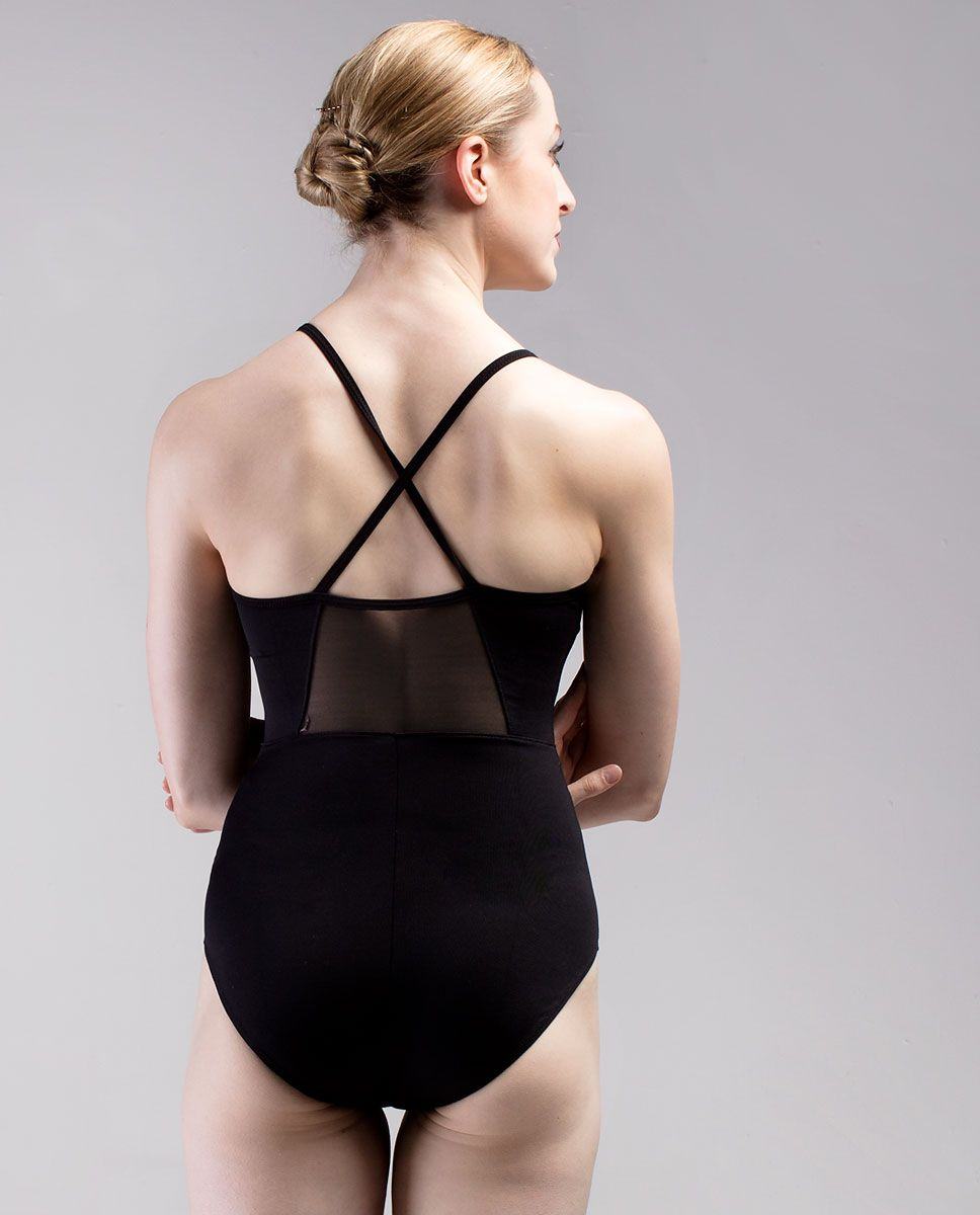 So Danca Mesh Cross Strap Back Leotard RDE-1929